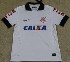 Thai quality 2013-2014 SC Corinthians home soccer jersey