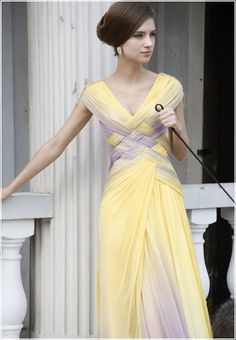 Fashion / Purple and yellow on Boxnutt.com....like this idea for wedding dress (different colors though)