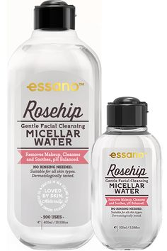 Our Gentle Facial Cleansing Micellar Water combines the power of Micelles, organic Rosehip Oil and Aloe Vera to gently and effectively clean skin in just 1 step. Water Molecule, Micellar Water, Facial Recognition, Rosehip Oil, Facial Cleansing, Makeup Remover, Cleanse, How To Remove, Skin Care