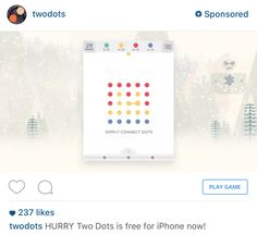 Two Dots Instagram Ad Example