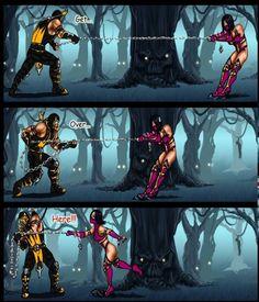 Scorpion + mileena part 1 Mortal Kombat Comics, Mortal Kombat Memes, Mortal Kombat Art, Great Memes, Crazy Funny Memes, Skorpion Mortal Kombat, Mortal Kombat X Scorpion, Dragon Rey, Claude Van Damme
