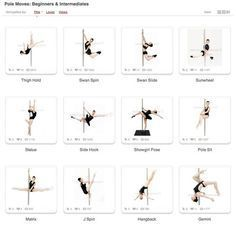Pole Dance Training - Pole Moves: Beginners & Intermediates Part 1