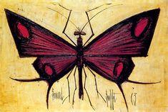 Bernard Buffet - Le Museum : Le papillon rouge - 1963 oil on canvas - 97 x 146 cm
