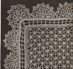 Victorian Crochet Lace Free Patterns | Vintage lace shawl crochet pattern 1890s by VintageVisageonEtsy