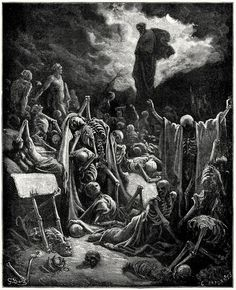 The vision of Ezekiel.    Gustave doré, from The Doré Bible gallery, Philadelphia, not dated.