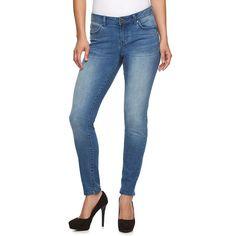 Petite Jennifer Lopez Modern Fit Skinny Jeans, Women's, Size: 4P-Short, Blue Other