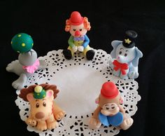 1st Birthday Cake Topper, Circus Party, Clowns, 1st Birthday Party, Clown Cake Decoration, Circus Clown, Circus Animal Set, Circus Carnival