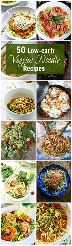 50 Low-Carb Veggies Noodle Recipes - Here are the best and most flavorful veggie noodle recipes around the internet to make your life easier and all in one place!