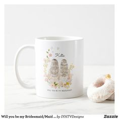 Cheap Bridesmaid Gifts, Will You Be My Bridesmaid Gifts, Wedding Bridesmaids, Bridal Shower Gifts For Bride, Bride Gifts, Wedding Mugs, Wedding Day, Brides Basket, Wedding Proposals