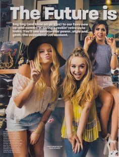 Girls Life Retro Fashion Spread April 2015
