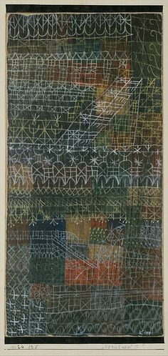 Paul Klee, Structural I // Musical work: Boulez, Structures Ia for Two Pianos