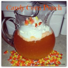 Candy Corn Punch   This punch was a HUGE hit with the kiddos! I made a batch for my kids and their friends and they were in love! It tastes a lot like a dreamcicle when it's all mixed up. Have...