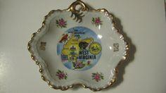 Vintage West Virginia Souvenir Dish by dtriece on Etsy