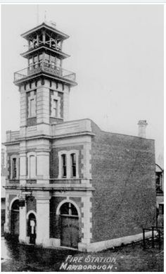 First fire station, Adelaide Street, Maryborough, ca. Adelaide Street, Old Houses, Old Photos, Notre Dame, June, Australia, History, Country, Building