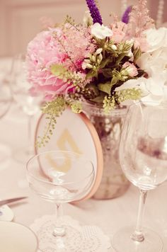 Wedding table number decoration