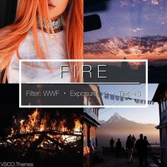 FIRE #vtlimited - This is a theme using the new limited filter WWF, this is a really pretty filter that works really well (from what I found) on landscapes, orange/pink/red photos rather then blue/green and so on. So this is a really pretty filter, WWF is 99c/$1.50 in the vsco store and it expires today I believe. - - #Vsco #vscofilter #vscofilters #vscocam #vscocamfilters #themes #feed #theming #photography #filter #filters