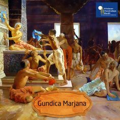 Gundica Marjana, the day prior to Ratha Yatra, is the cleaning of Gundica temple to welcome Lord Jagannath.