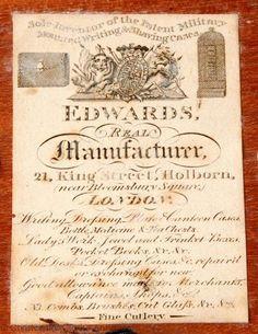 Furniture Label - Christopher Clarke Antiques