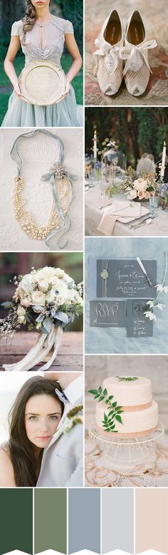 Green and Blue Irish Wedding Inspiration | the perfect wedding color palette for a beautiful St. Patrick's Day or Ireland theme wedding |  www.onefabday.com
