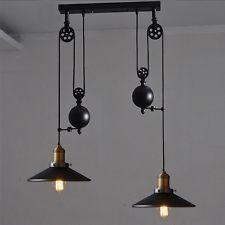 Retro per appendere Plafoniera Vintage Industriale Lampada a sospensione retrattile Puleggia