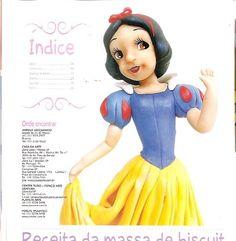 ARTESANATOS PASSO A PASSO: Princesas em biscuit (branca de neve)