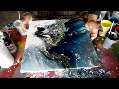 YouTube Acrylic Pouring Art, Acrylic Art, Pour Painting, Diy Painting, Flow Arts, Art Abstrait, Resin Art, Painting Techniques, Artsy