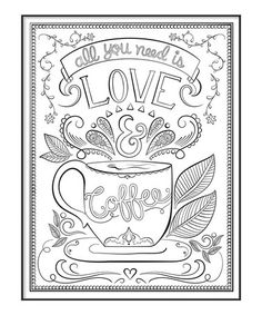 This Color In Love Coffee Wall Art Is Perfect Zulilyfinds