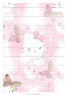 Hello Kitty Notepaper