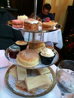 Afternoon Tea at the Dome in Edinburgh! Love Scotland!