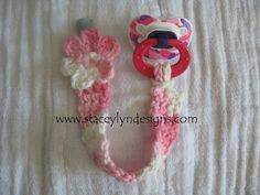 Crocheted Pacifier Clip