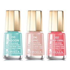 Mavala Editors Picks Trio featuring polyvore, beauty products, nail care, nail polish, mavala nail polish and mavala