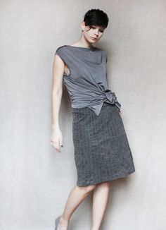 Grey Velvet Skirt from Found it Great on Etsy