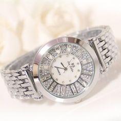 $21.77 (Buy here: https://alitems.com/g/1e8d114494ebda23ff8b16525dc3e8/?i=5&ulp=https%3A%2F%2Fwww.aliexpress.com%2Fitem%2FNew-Arrival-Famous-Brand-Women-Diamond-Steel-Band-Watch-Lady-Luxury-Jewelry-Dress-Watch-Rhinestone-Bracelet%2F32720328126.html ) New Arrival Famous Brand Women Diamond Steel Band Watch Lady Luxury Jewelry Dress Watch Rhinestone Bracelet Full Crystal Bangle for just $21.77