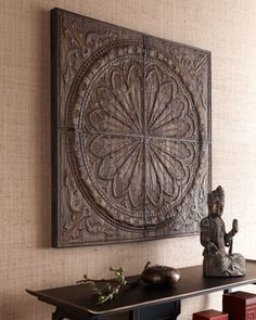 Ornately detailed wall art made from banana tree bark compressed over metal  embossing creates a unique focal point for any room. Handcrafted of banana  tree ...