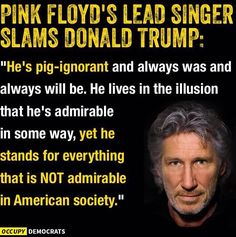 Roger Waters (Pink Floyd) on Donald Trump