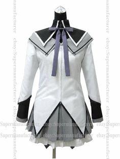 Anime Puella Magi Madoka Magica Homura Akemi Uniform Cosplay Costume #07