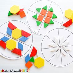 Symmetry is one of my favorite mathematical concepts because I think symmetrical patterns are pleasing to look at–do you agree?The printable included with this activity has a blank circle, 2 section circle, 4 section circle, and an 8 section circle for kids to use as they buildsymmetrical circles. We also added a computer game, song, …