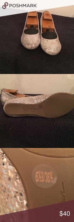 Flats Silver sparkle flats Jessica Simpson Shoes Flats & Loafers