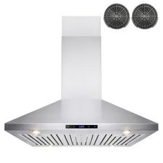 AKDY 36 in. Convertible Kitchen Island Mount Range Hood in Stainless Steel with Touch Control and Carbon Filter at The Home Depot - Mobile Kitchen Tops, Kitchen And Bath, Kitchen Island, Stainless Steel Cleaner, Brushed Stainless Steel, Oven Hood, Brushed Nickel Chandelier, Island Range Hood