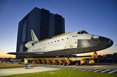 Shuttle Atlantis, NASA's last orbiter, departs for museum duty