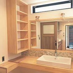 「造作洗面台 収納」の画像検索結果