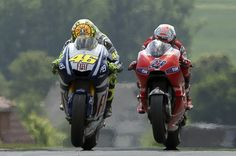 Valentino Rossi Casey Stoner Photos: MotoGP of Germany - Race