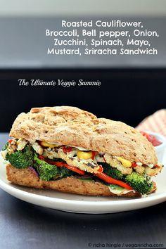 The Ultimate Veggie Sandwich. Vegan Recipe - Vegan Richa