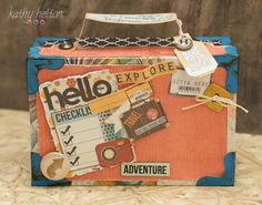 Checked it twice and it's ready for adventure!  Here's the perfect Suitcase made by Kathy!   You can find it in SUMMER HOLIDAY SVG KIT.
