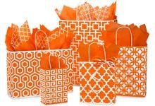 Orange Graphics Shopping Bags