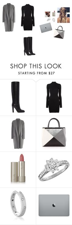 """""""Sans titre #2778"""" by yesmine-bengharbia ❤ liked on Polyvore featuring Valentino, adidas Originals, CÉLINE, Fendi, Ilia and Tiffany & Co."""