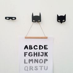 Super Hero Wall Hooks Batman Teen Boy Room Kids Wall by Metalya