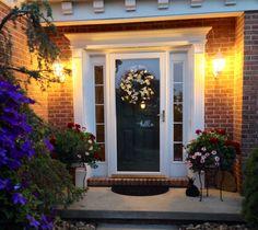 Welcoming front door with hello greeting