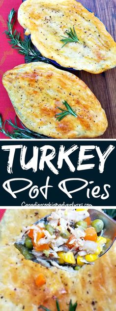 Turkey Pot Pies  #le