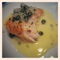 With Lemon- Butter -Caper Sauce Salmon With Lemon- Butter -Caper Sauce. Photo by avanbeek. Tried and loved itSalmon With Lemon- Butter -Caper Sauce. Photo by avanbeek. Tried and loved it Salmon Dishes, Fish Dishes, Seafood Dishes, Fish And Seafood, Lemon Salmon, Baked Salmon, Lemon Caper Salmon Recipe, Pan Fried Salmon, Gourmet